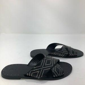 Frye Ally Deco Stud Criss Cross Sandals